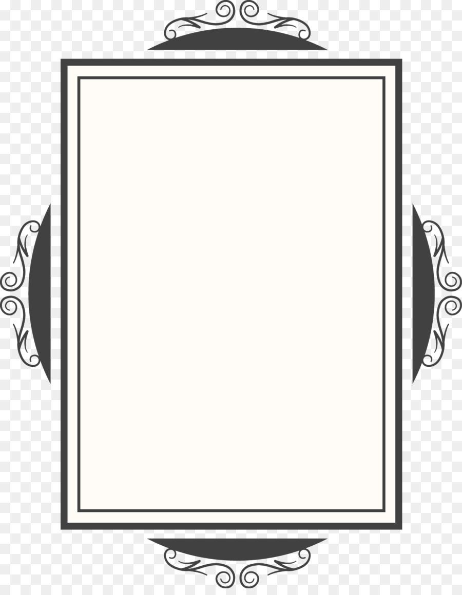 black and white mirror vector creative design diagram quadrangular mirror frame png download. Black Bedroom Furniture Sets. Home Design Ideas