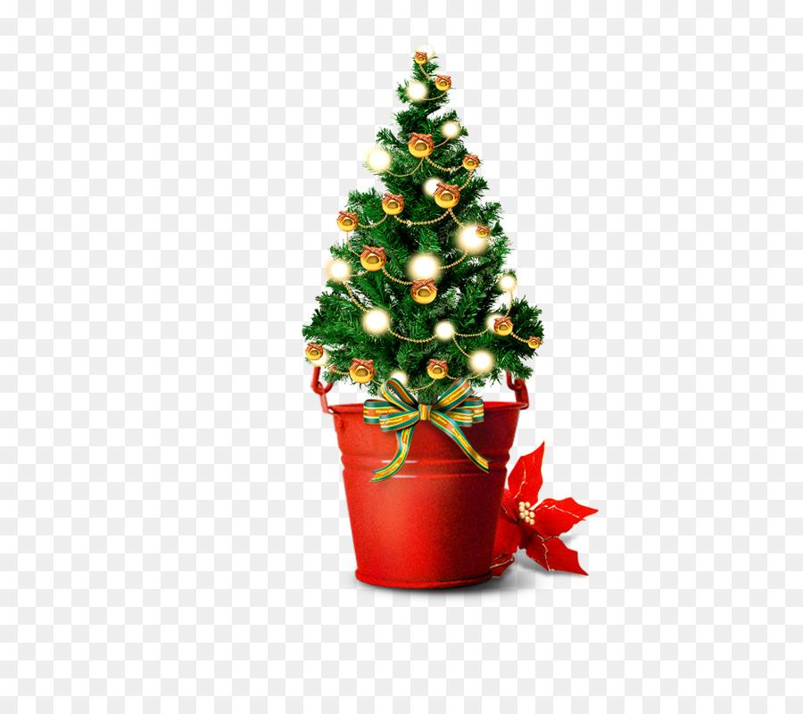 Santa Claus árbol de Navidad regalo de Navidad - Verde bombilla de ...