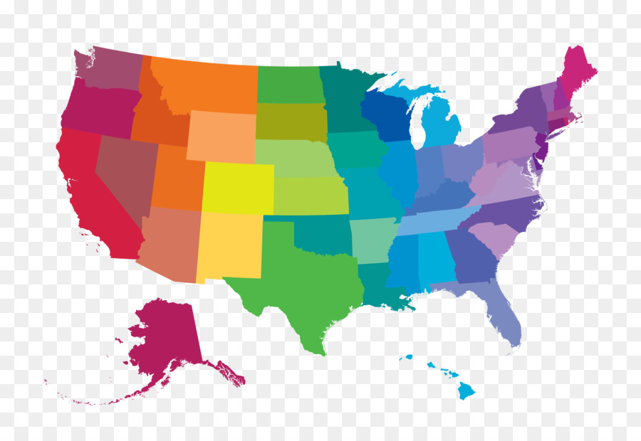 United States Vector Map World map - Vector color map png download ...