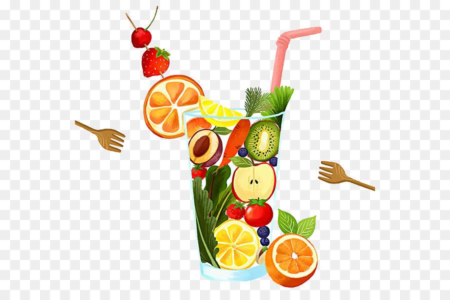 Coctel De Frutas Dibujo