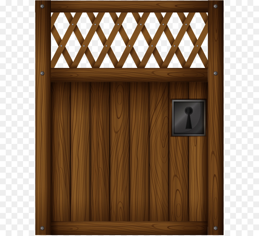 Sliding Glass Door Gate Clip Art Vector Wooden