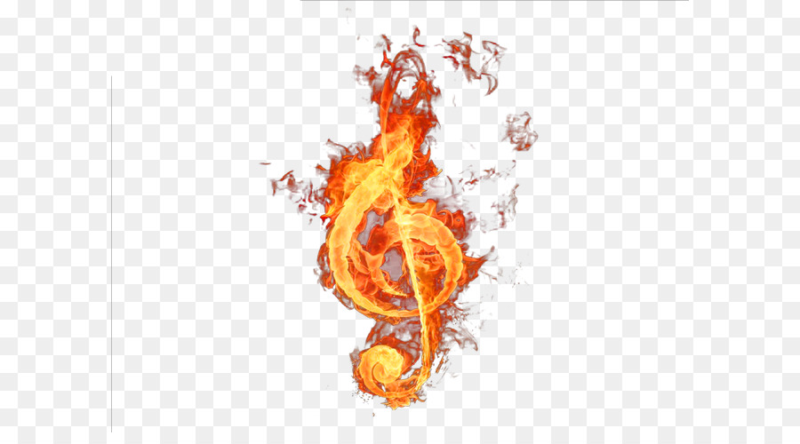 Musical Note Symbol Violin Fire Notes Png Download 650487