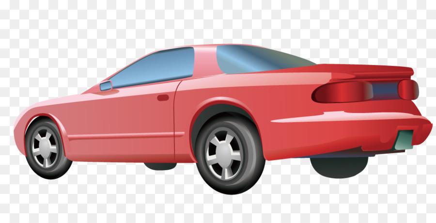 Sports Car Bumper Cartoon Red Sports Car Png Download 1000 500