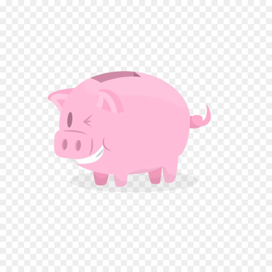 Cerdo doméstico Rosa hucha Ilustración - alcancía Formatos De ...
