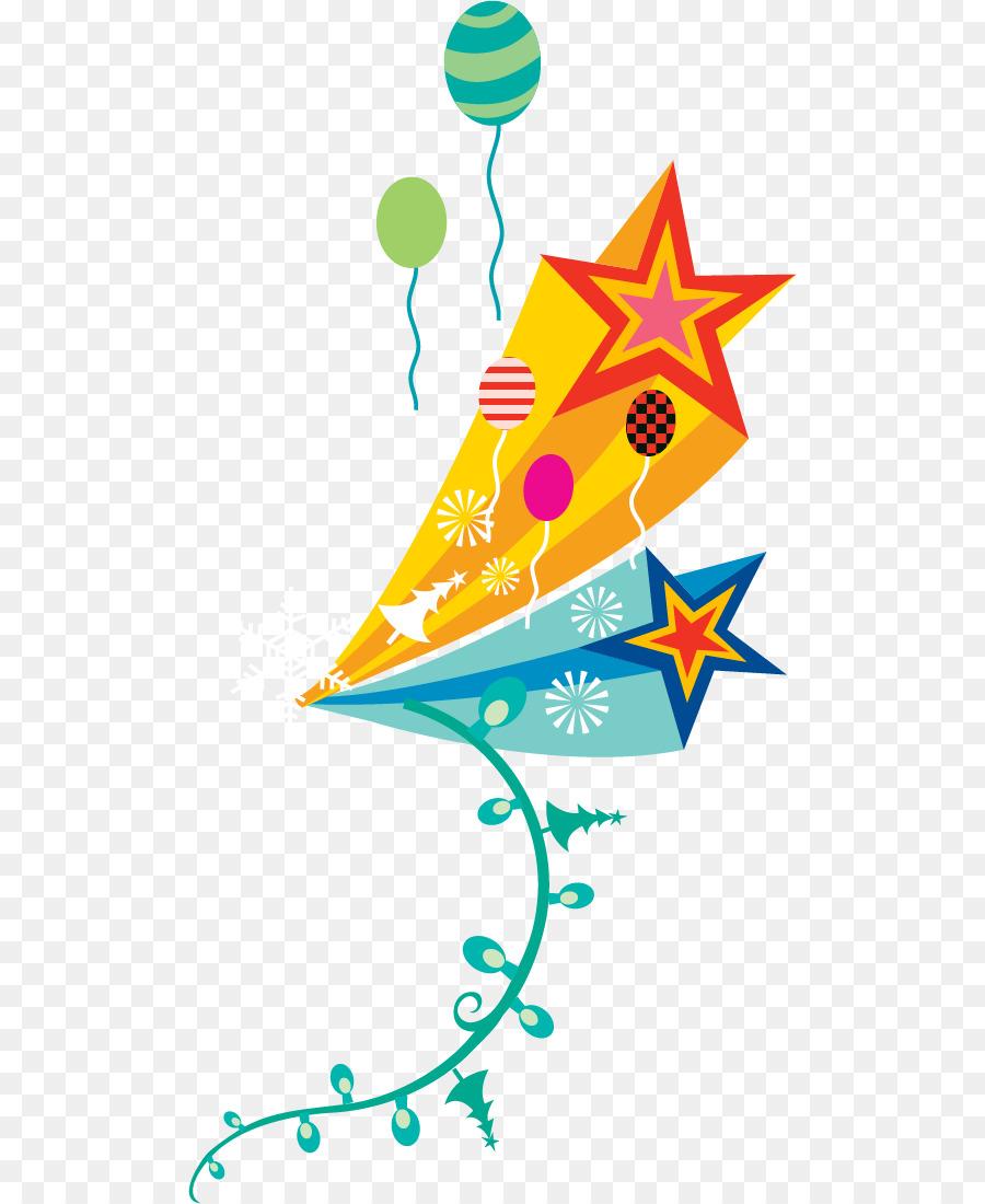 Weihnachten illustration - Luftballons-Vektor-material-Fünf-Sterne ...