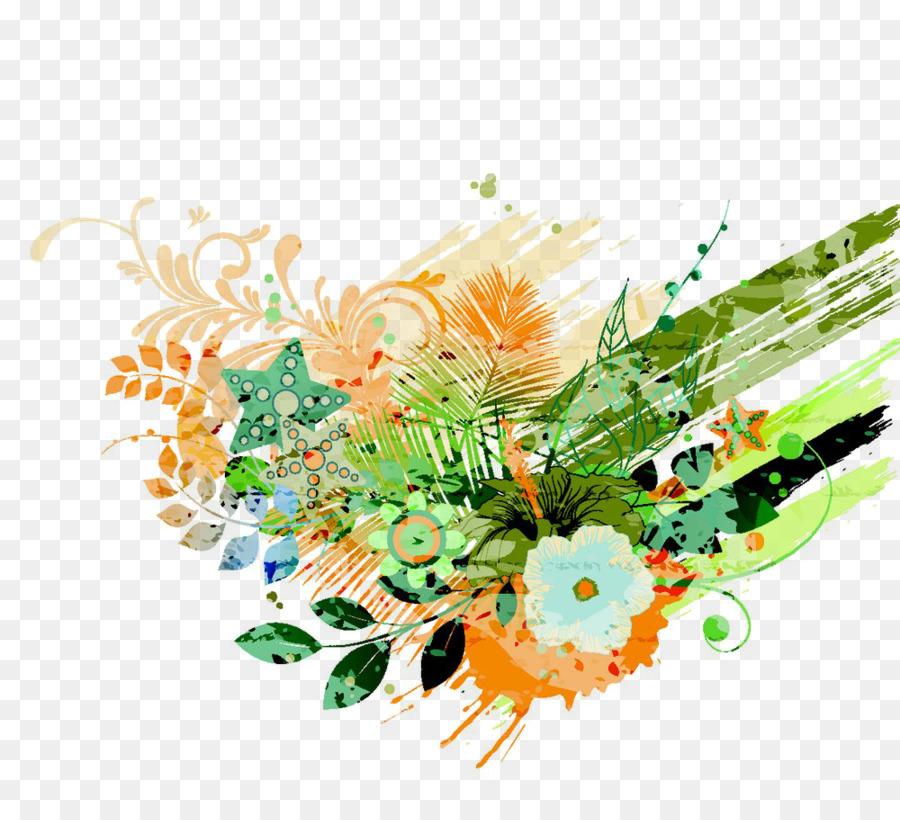 Design Floral Flores Frescas De Fundo Transparente Planta Flor