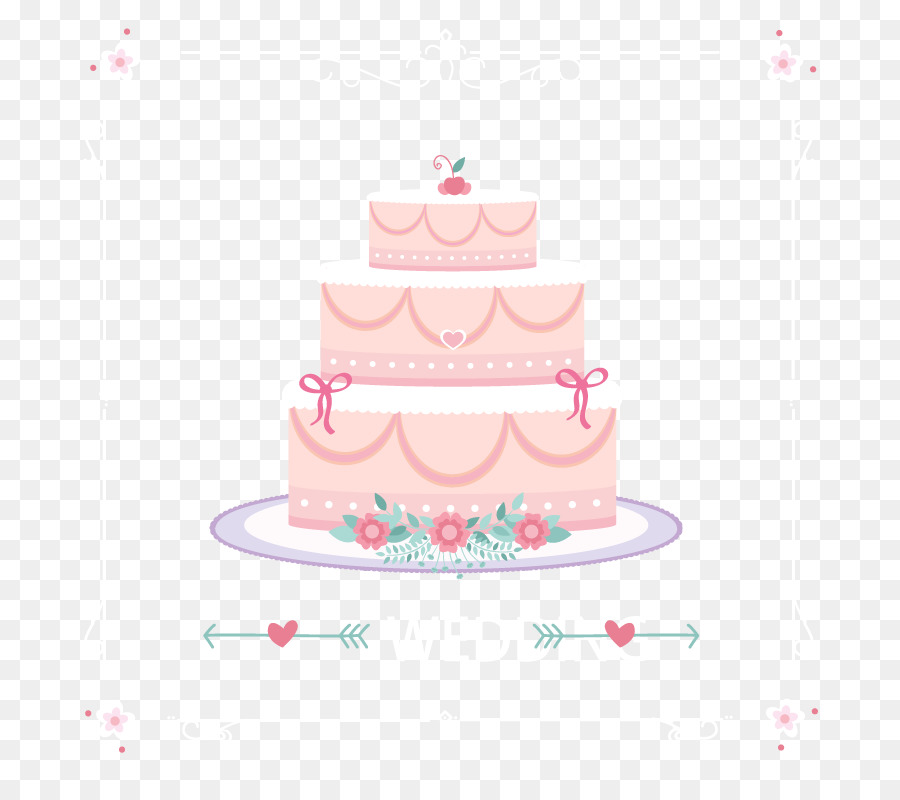 Wedding Cake Torte Pink Wedding Cake Vector Material Picture Png