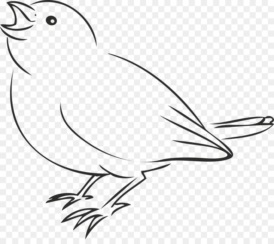 Gorrión Pájaro Dibujo Clip art - Las aves de la línea de Formatos De ...