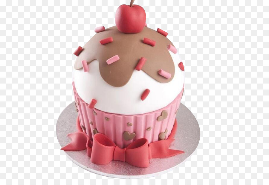 Cupcake Birthday Cake Apple Pink PNG