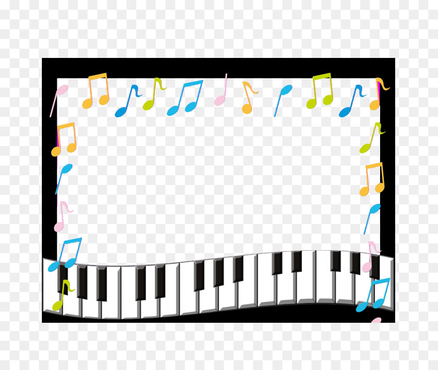 Musical Note Picture Frame Photography Piano Border