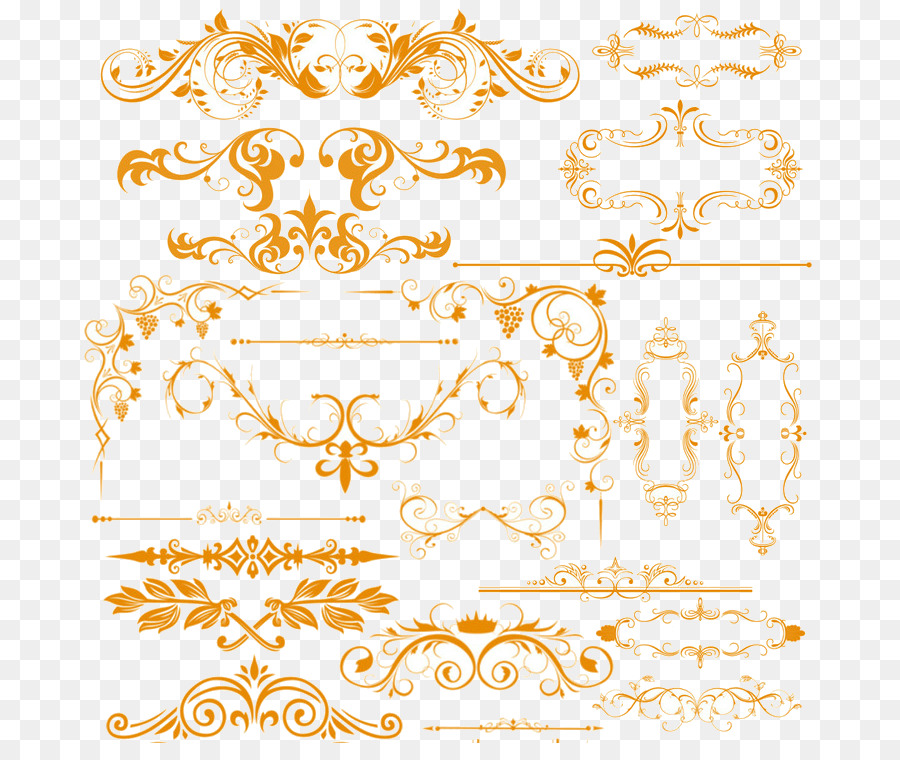 Template Download - Gold lace png download - 737*743 - Free ...