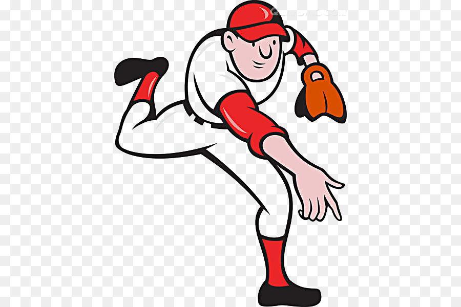 Lanzador de béisbol de dibujos animados Clip art - Los deportes de ...