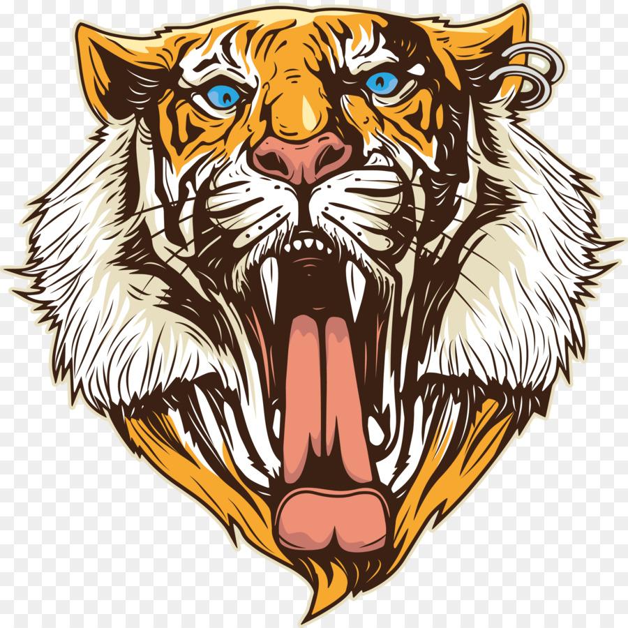 tiger head logo - 650×651