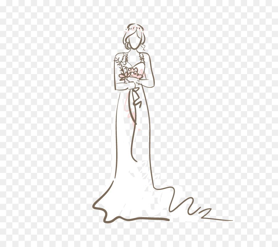 wedding dress bride silhouette wedding artwork silhouette vector