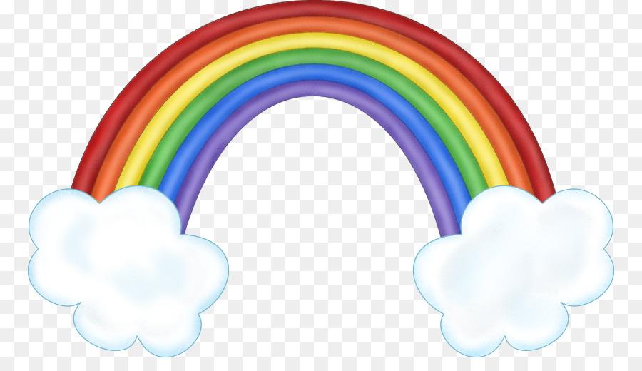 Arco Iris En La Nube Iridiscente Clip Art