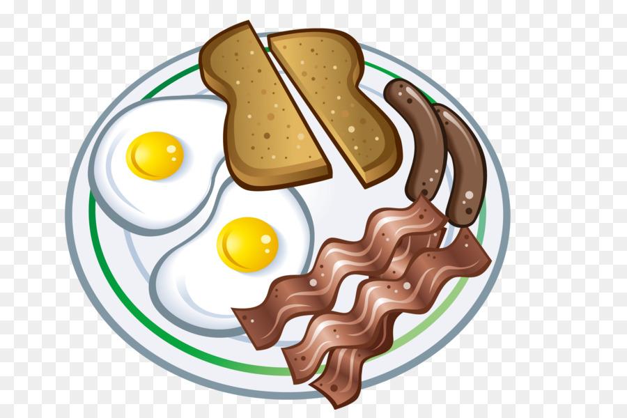 Sausage Breakfast Bacon Omelette Cartoon