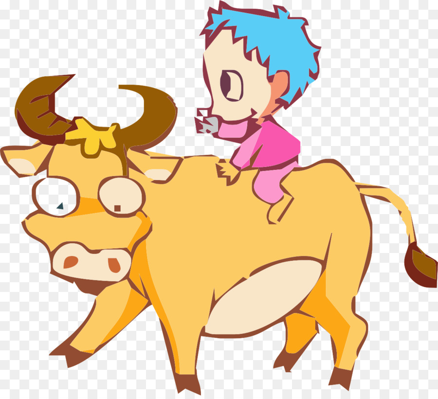 cattle bull clip art the little boy riding a bull png download rh kisspng com