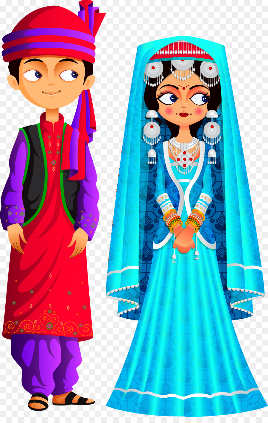 Kashmir Stock photography Weddings in India Clip art - Dresses png ...