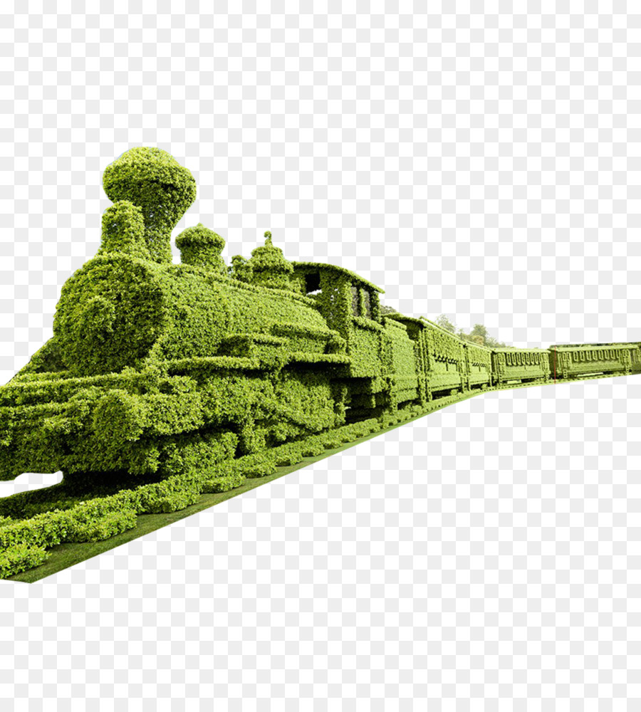 Living Sculpture Topiary Garden Art   Long Grass Train