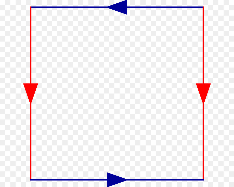 square red clip art the direction of the arrows red and blue borders