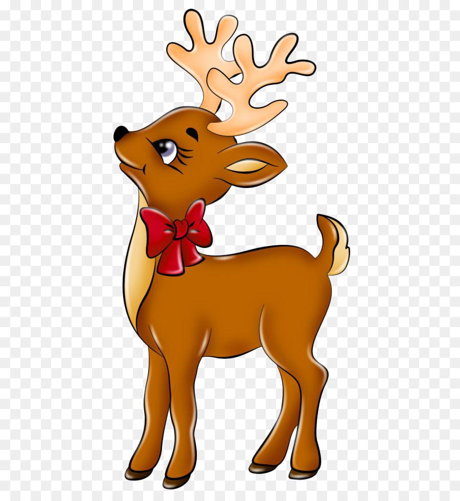 rudolph the red nosed reindeer santa claus clip art cute little deer - Reindeer And Santa