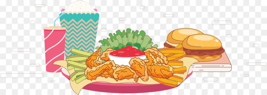Hamburger Buffalo Wing Junk Food Fried Chicken Fast Food Cartoon