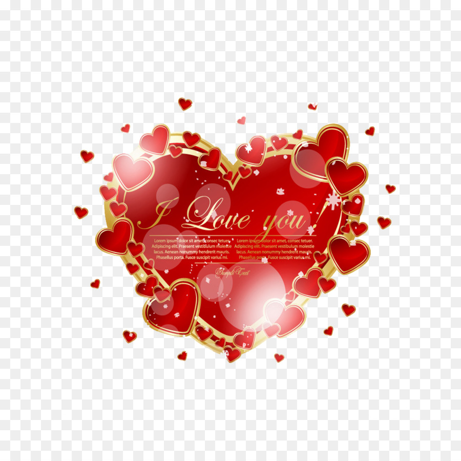 Valentines Day Romance Heart Greeting Card Halo Love Png Download