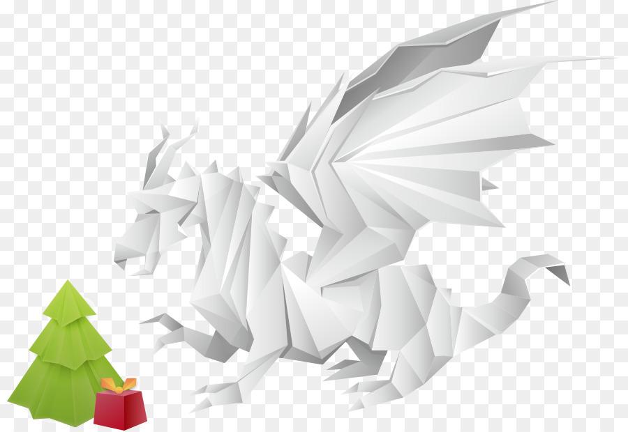 Paper Modular Origami Dragon