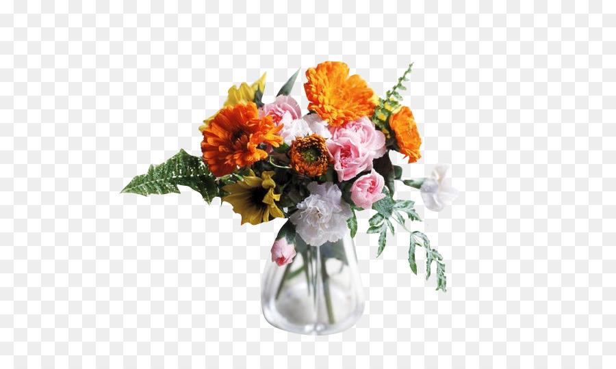 Vase Flower bouquet Glass Flowerpot - bouquet png download - 720*537 ...