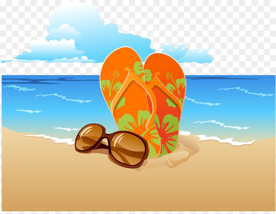 a8510eec5c74c Slipper Flip-flops Sunglasses Sandal Beach - Vector beach png download -  3672 2818 - Free Transparent Slipper png Download.