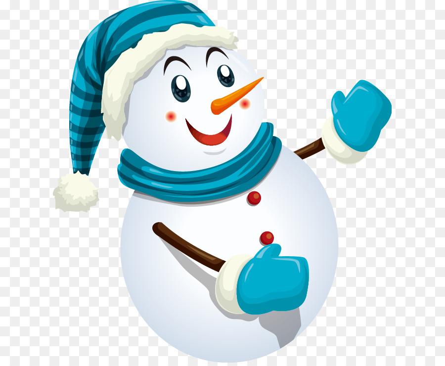 santa claus snowman christmas cute snowman pattern blue suit - Snowman Christmas