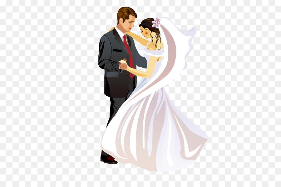 Wedding invitation Bridegroom Marriage - Bride and groom png ...