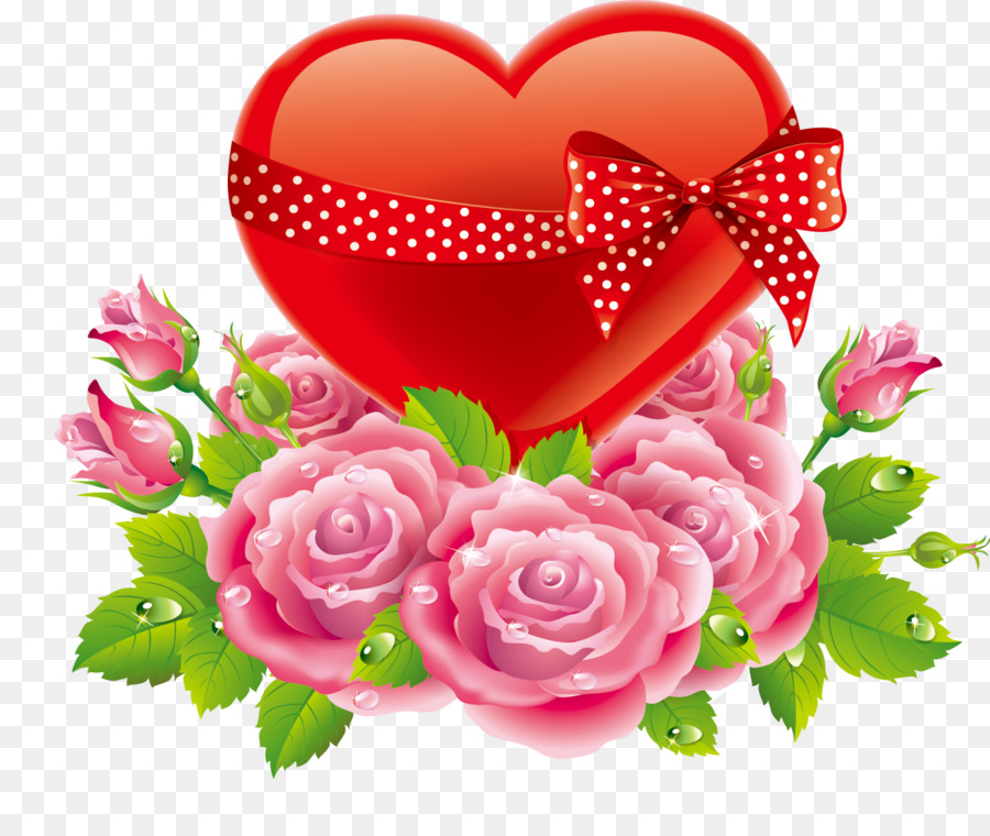 Heart Rose Valentines Day Love Rose Heart Png Download 12001000