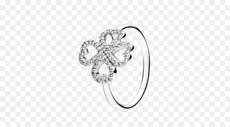 d6060a688 Amazon.com Earring Pandora Jewellery - Pandora Clover Ring png ...
