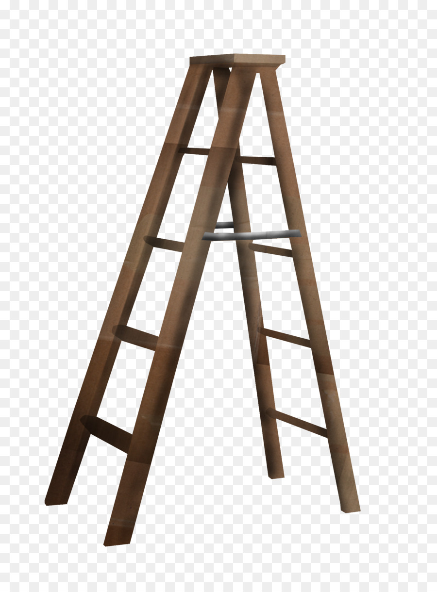 Ladder Stairs A Frame Clip Art   Brown Herringbone Ladder