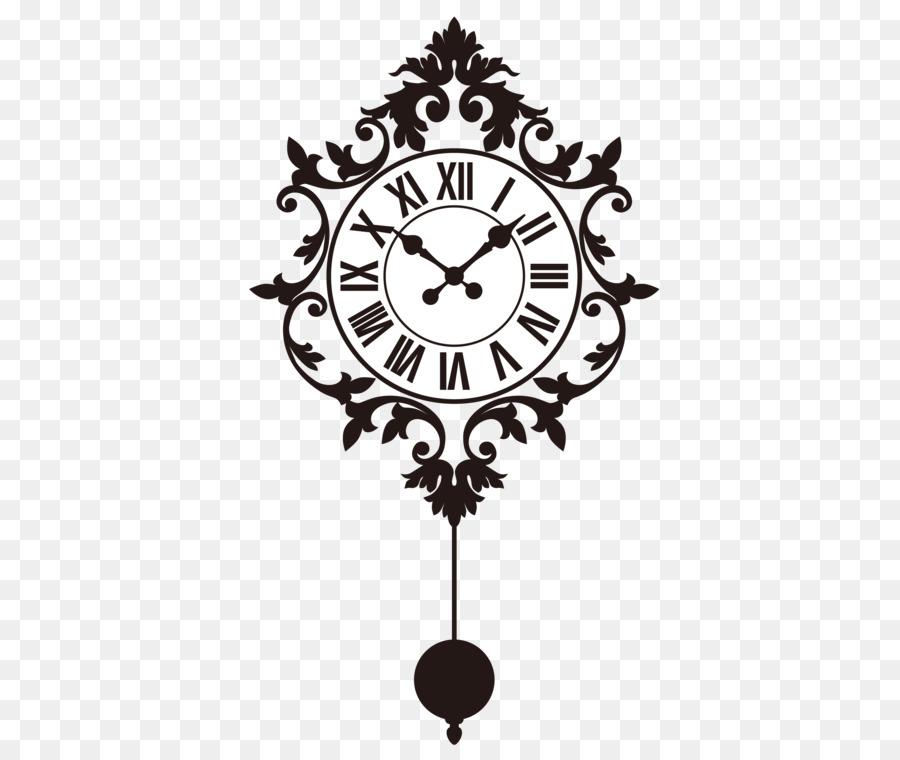 wall decal clock sticker - vector pendulum clock png download - 3087
