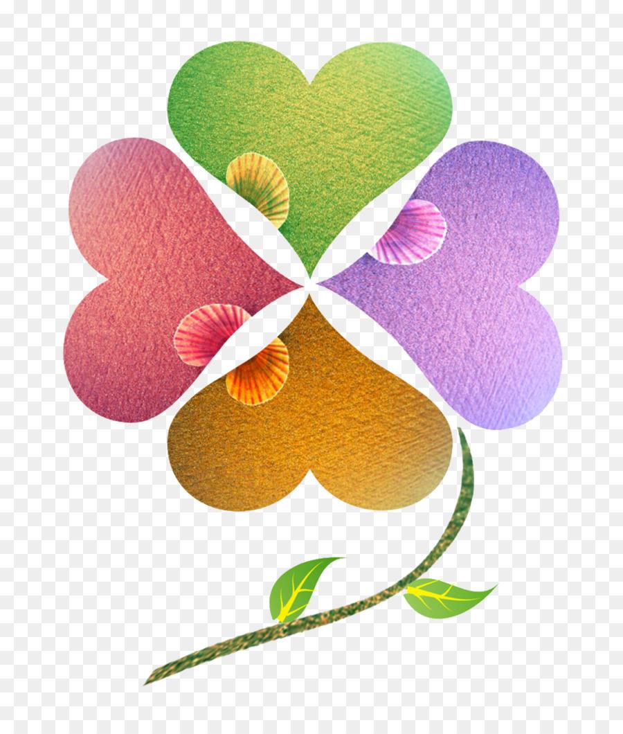 Dört Yapraklı Yonca Sina Weibo Indir Dört Yonca Renkli Resim