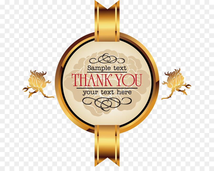 circle designer hand painted gold frame ribbon letter png download