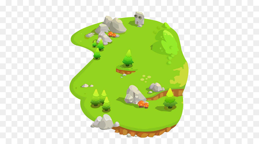 green grass field animated. Mudanfeng Ski Field Desert Island Animation - Green Grass Animated F