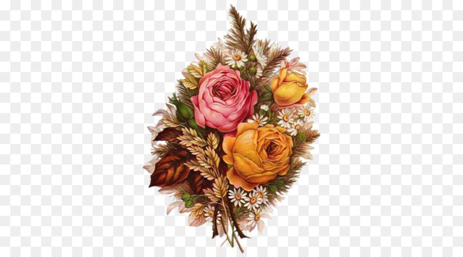 Victorian era Flower bouquet Clip art - Retro flowers bouquet png ...