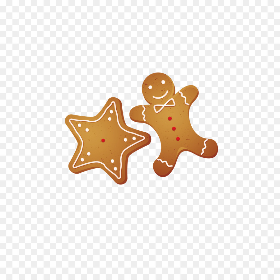 gingerbread man christmas decoration cookie cartoon vector material cookies
