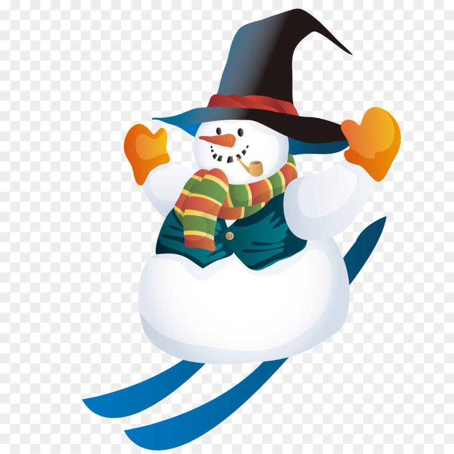 Santa Claus Christmas Schneemann Clip art - Glide Schneemann png ...