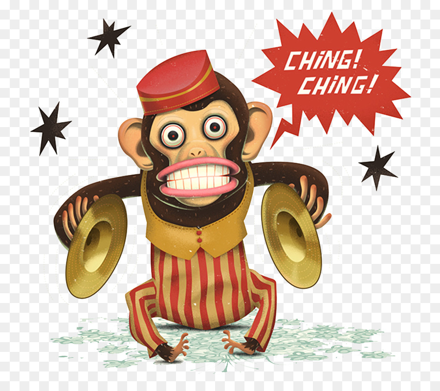 Cymbal Banging Monkey Toy Gorilla Dance Monkey Face Png Download