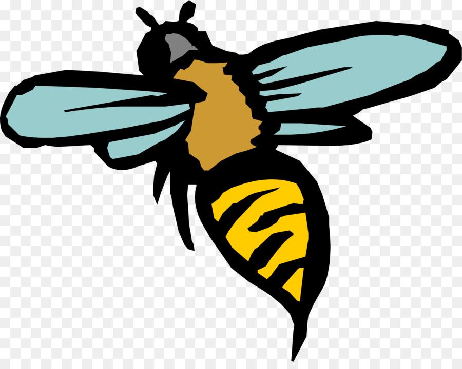 Madu Lebah Serangga Kartun Clip Art Kartun Lebah Unduh Terbang
