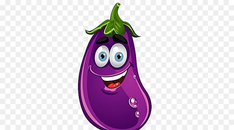 Vegetable Cartoon Fruit Clip Art Cute Eggplant Png Download 500