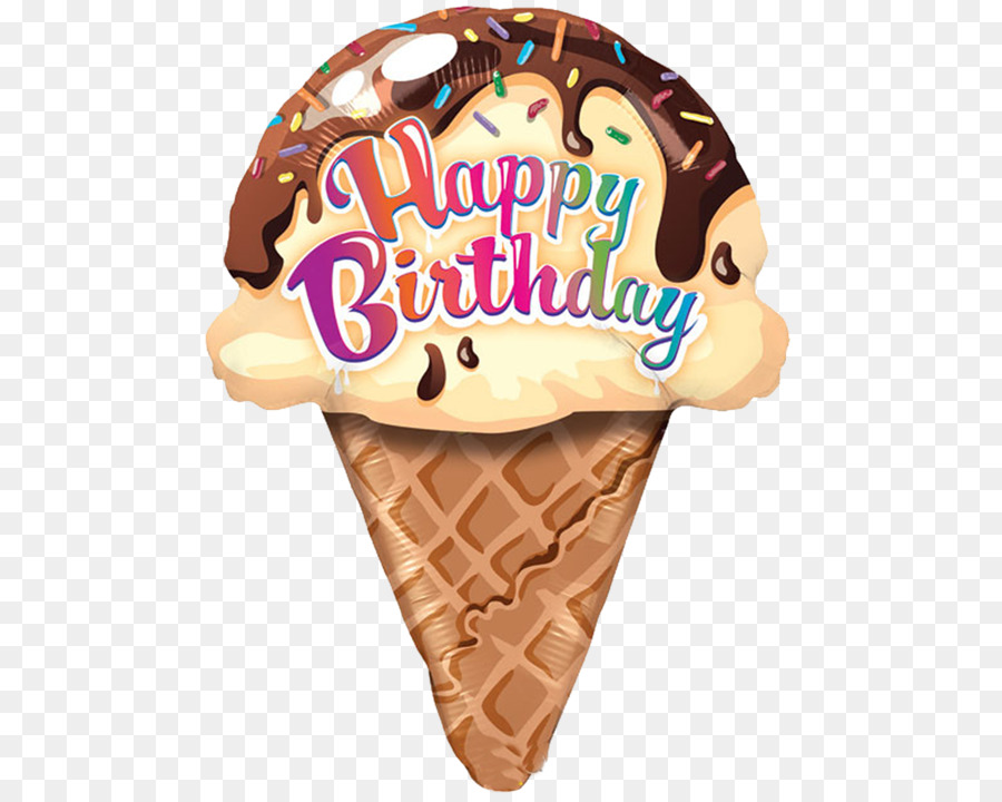Ice Cream Cone Ice Cream Cake Cupcake Happy Birthday Png Download