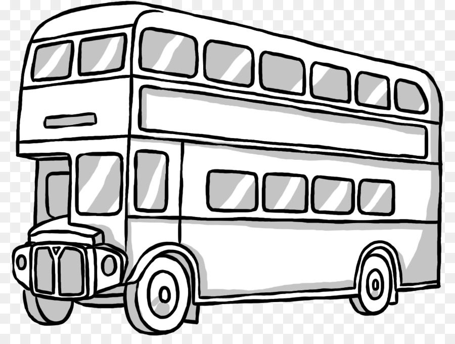 Double Decker Bus Drawing Hand Painted Double Decker Bus Png