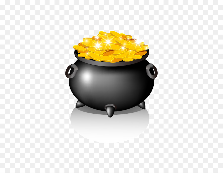 gold coin vector jar of coins png download 700700