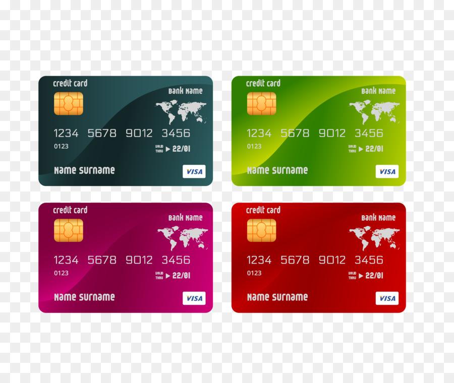 Credit Card ATM Card Template Color Bank Card Png Download - Visa credit card template