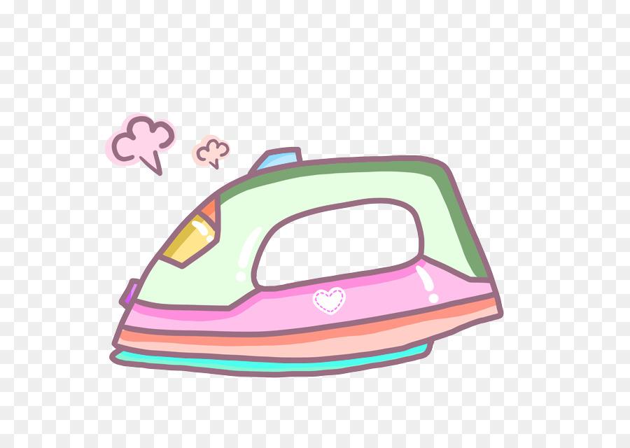 Cartoon Clothes Iron ~ Plancha de ropa dibujos animados clip art verde